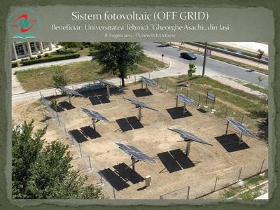 Proiectare si executie C.E.F. (OFF GRID) cu puteri cuprinse intre 4,3 kWp si 9 kWp