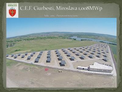 Proiectare si executie: Racordare C.E.F. Ciurbesti Miroslava - Pi=1,008 MWpi